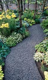 attractive gravel garden path photo via erin on the impatient