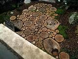 spotted another wood slice walkway at the 2011 Boston Flower & Garden ...