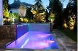 modern garden lighting ideas outdoor swimming pool lighting LED lights