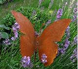 Rusty butterfly garden decoration Garden Decorations Of Rust – Cool ...