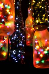 way to recycle beer and glass soda bottles insert some lights
