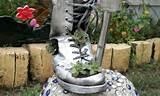 DIY home garden decor idea with a shoe planter and succulents