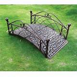 Buy For Garden Odyssey 4 ft Metal Riverstone Garden Bridge ...