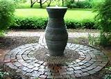 vessel fountains garden ideas pinterest