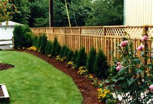 landscaping ideas for backyard near fences landscaping ideas