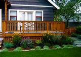 deck landscaping like the lattice under the deck more deck ideas decks ...