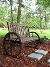 rustic garden furniture landscaping ideas garden bench wheels