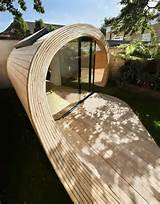 shed and office combo in unique timber tube form shoffice home