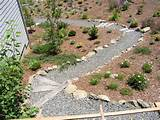 with Quarry Rock Border and Crushed Rock Path & Hillside Planters ...