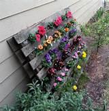 Pallet Flower Garden :: Hometalk/great idea for strawberries! is ...
