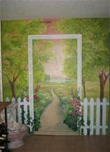 fence garden mural.JPG provided by Melissa Barrett Paint Design Wall ...