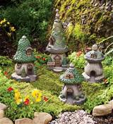Miniature Fairy Garden Gnome Homes, Set of 4 | Garden Fairies & Gnomes
