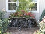 ... feel this beautiful stone pondless water fountain. Very nice garden