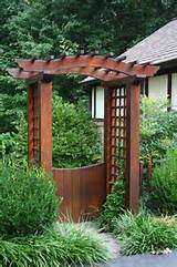 garden gate with pergola contemporary landscape other metro by