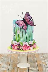 Beautiful Butterfly Garden Birthday Cake | Cake Inspirations | Pinter ...