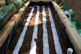 inside of the self watering raised vegetable garden with peat moss
