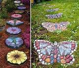 DIY Butterfly Shaped Garden Stepping Stones - Find Fun Art Projects to ...