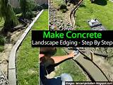 landscape edging or curbing can put the finishing touch on a landscape