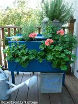 dresser planter in our next issue of flea market gardens magazine