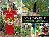 recycled garden art garden and outdoors pinterest