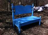 Colorful garden bench idea | garden benches | Pinterest