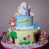 in the night garden cake cake is covered in fondant details clouds ...