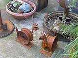 yard art ideas from junk garden snails made from junk