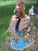 tree stump gnome garden craft ideas pinterest