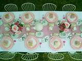 kids birthday ideas cute outdoor garden tea party pink polka dots