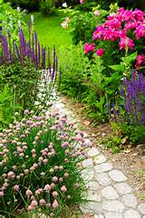 Flower path garden is a unique reflection of owner personality and the ...