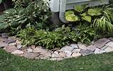 edging flagstone cobble stone and limestone flower bed edgings are all