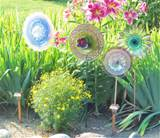 garden flower outdoor decor recycled glass plate by jarmfarm