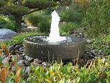 Beautiful round stone garden water fountains for your garden