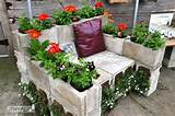 Concrete block bench. A little too green for me. Ideas, Chairs, Cinder ...