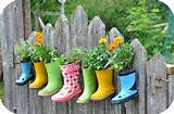 Kids rain boot planters - if you have children, you know how fast they ...