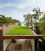 modern beach house design with green roof design ideas beach view ...