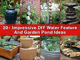 ... Impressive DIY Water Feature And Garden Pond Ideas • DIY All in One