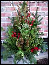 flower container xmass winter flower projects ideas pots ideas