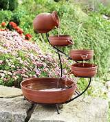 ... water fountain. This is such a great idea for your garden or backyard