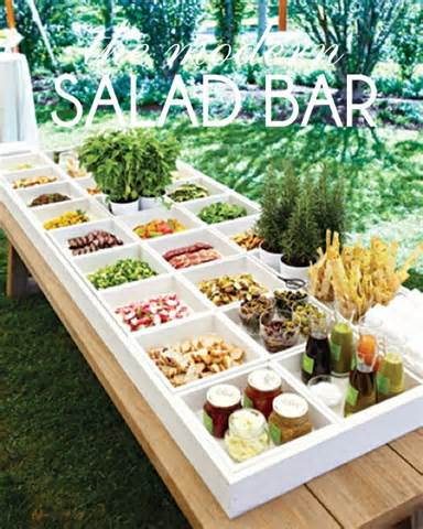 ideas for creating a modern salad bar the party dress