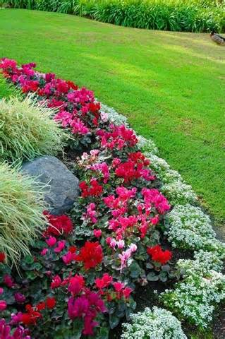 flower bed border id flowers garden love exteriors pinterest