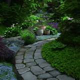 there s no need or a flashy pathway when you have a beautiful garden