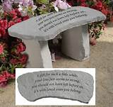home garden memorials memorial garden bench a gift for such a