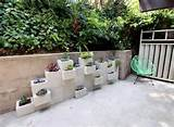 also saw a cool idea about how to use cinder blocks as planters