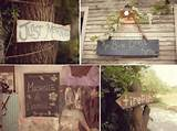 personalized rustic wedding touches wood just married signs and