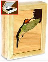 Gift Idea- hand crafted wood hummingbird box for keepsakes, jewelry ...