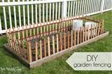fencing and three rolls of wooden fencing from lowes to make the fence