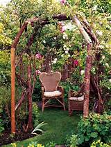Rose-Covered Arbor... A garden arbor can designate a private retreat ...