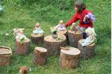 stumps or logs kids love hopping from stump to stump balancing on
