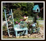 secret treasure an aqua garden for the love of flowers and junk